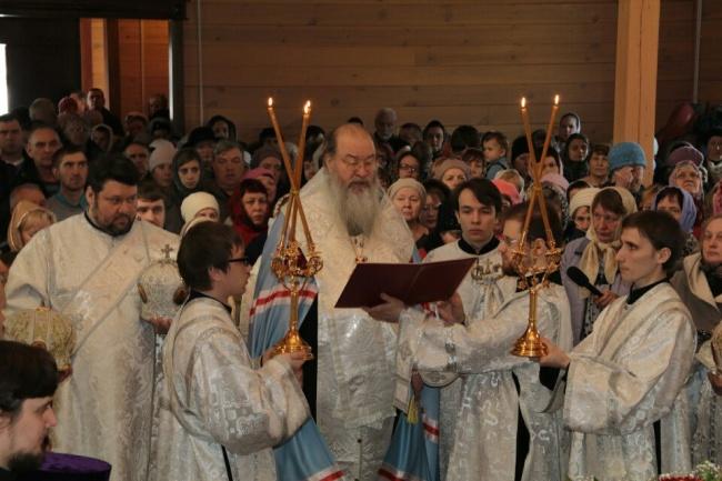 Состоялось освящение храма Богоявления Господня в Бердске
