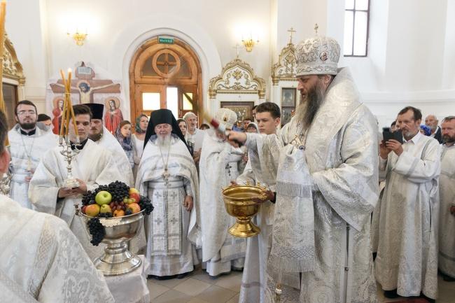 В Преображенском кафедральном соборе г. Бердска отметили престольный праздник